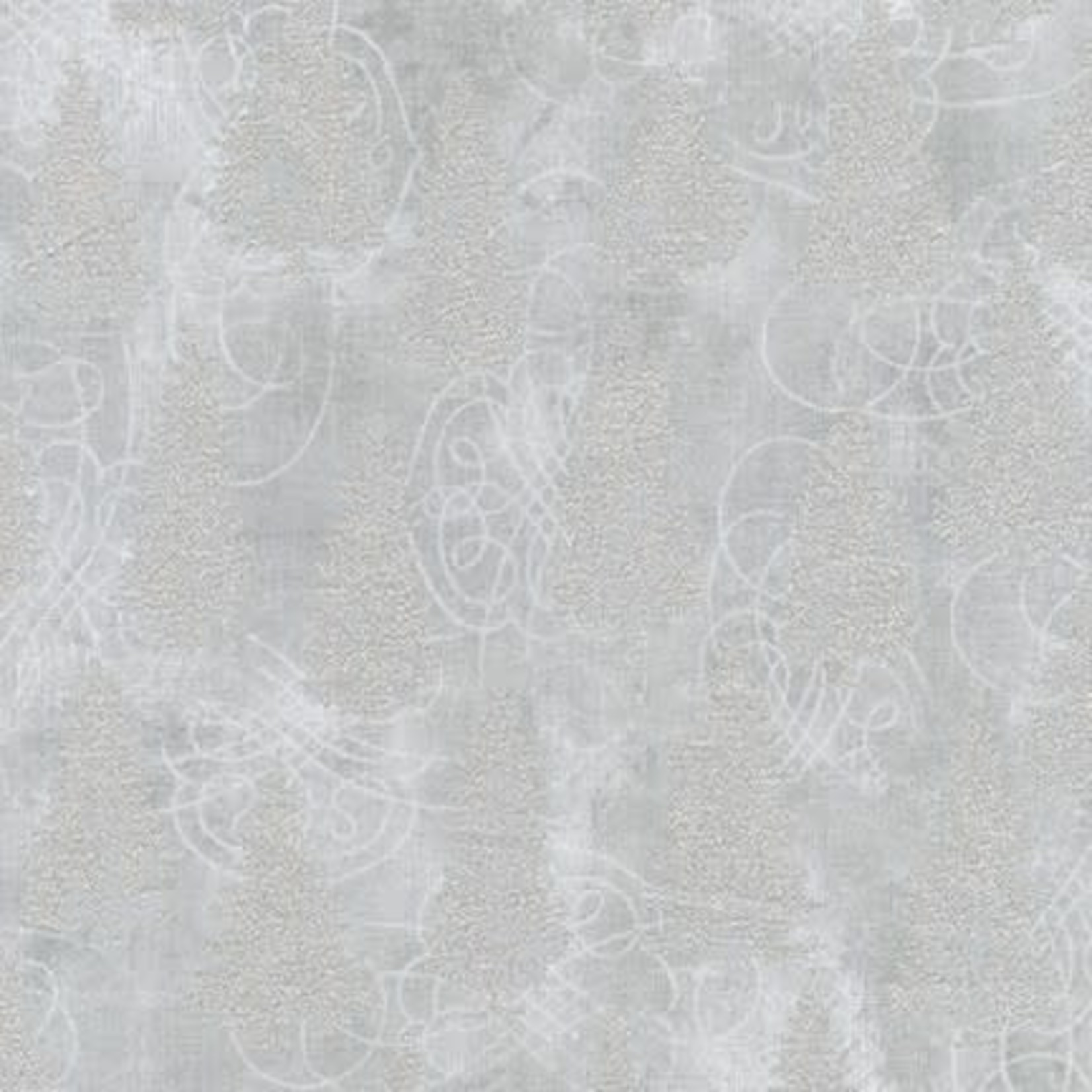ROBERT KAUFMAN WINTER'S GRANDEUR 8, FILIGREE, SILVER $0.20 /CM OR $20/M