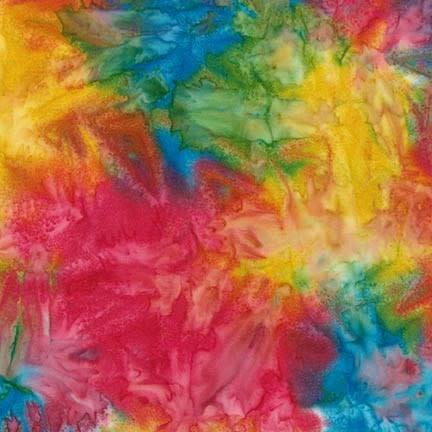 ROBERT KAUFMAN ARTISANS BATIKS, PATINA HAND PAINTS, BRIGHT Per Cm or $20/m