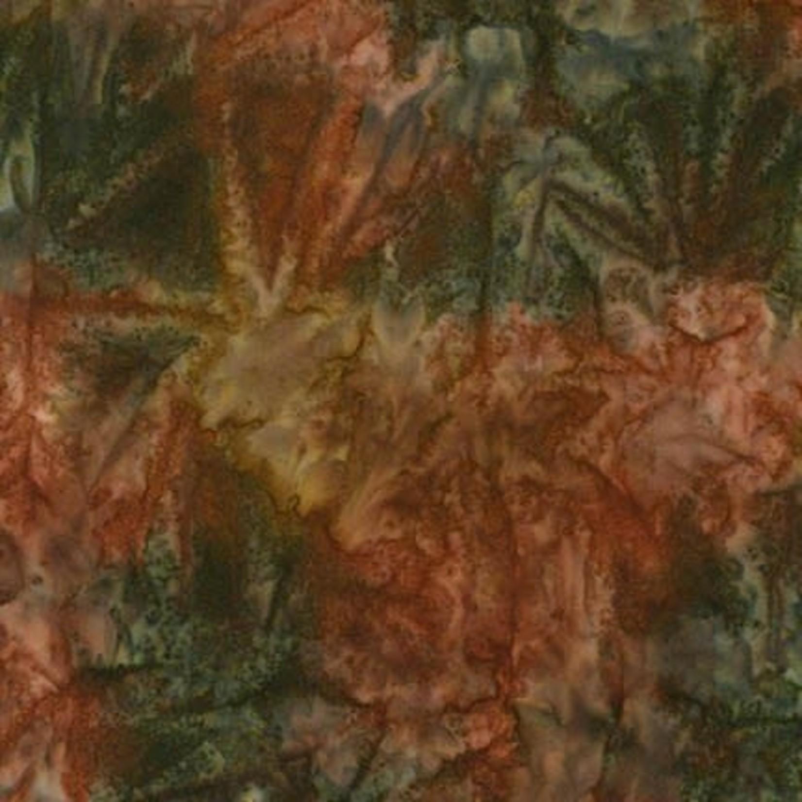 ROBERT KAUFMAN ARTISANS BATIKS, PATINA HAND PAINTS, CHESTNUT Per Cm or $20/m