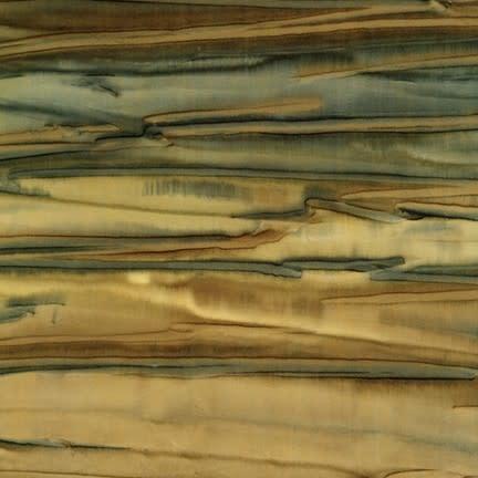 ROBERT KAUFMAN ARTISANS BATIKS, PATINA HAND PAINTS, DESERT GREEN STRIPE Per Cm or $20/m