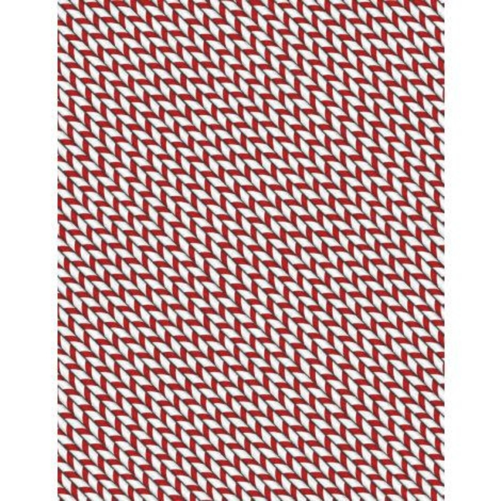 WILMINGTON PRINTS HOT COCOA BAR RED CANDYCANE PER CM OR $20/M