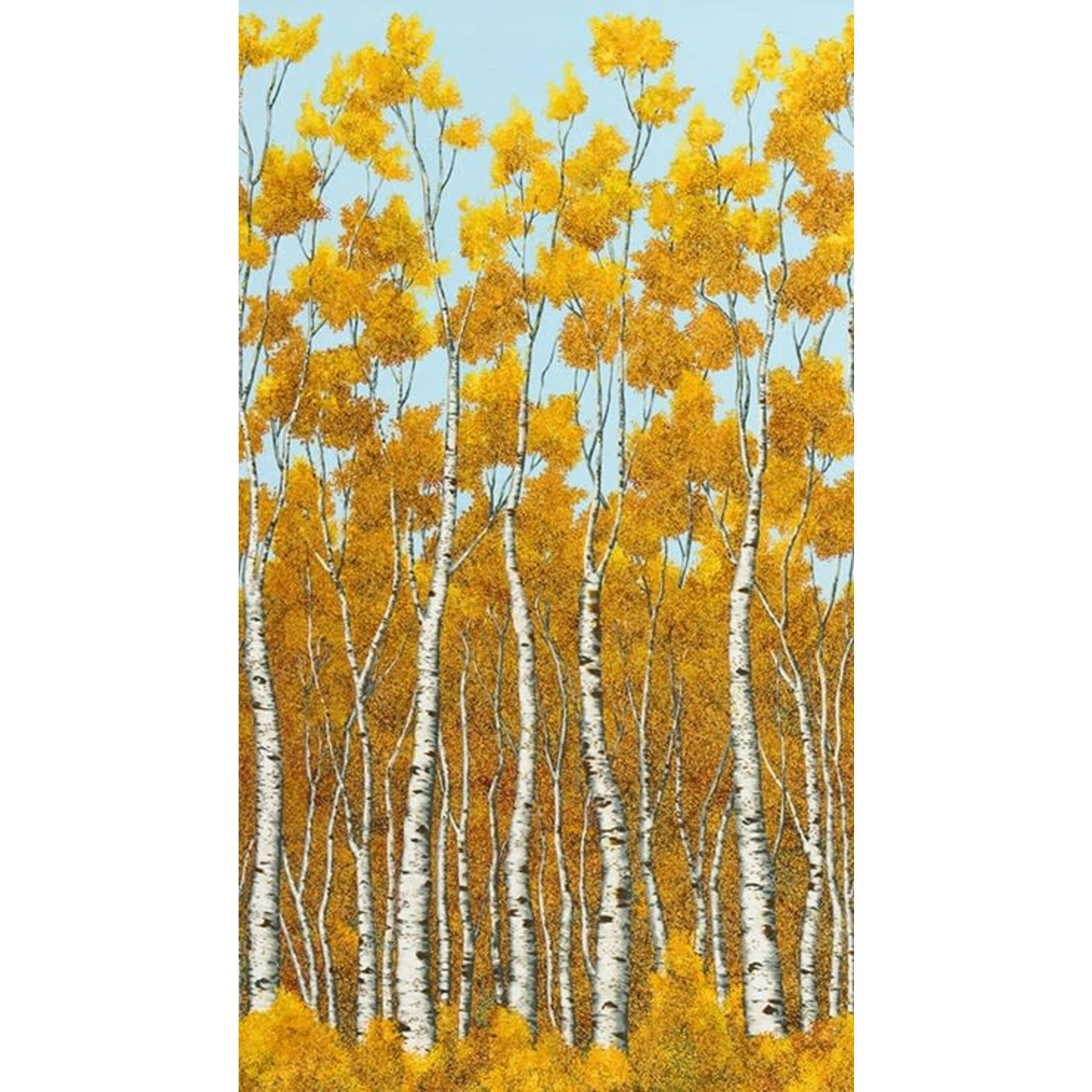 ROBERT KAUFMAN WILDWOOD GRACE, AUTUMN BIRCHES (19322-191) $0.20/CM OR $20/M