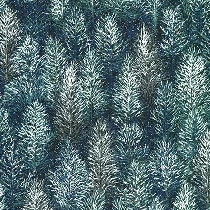 ROBERT KAUFMAN FIRST SNOW METALLIC, NIGHTFALL (19268-231) $0.20/CM OR $20/M