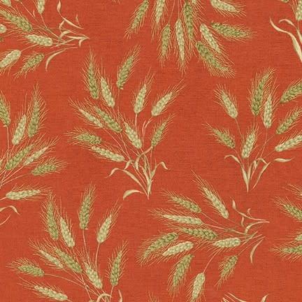 ROBERT KAUFMAN Autumn Beauties, WHEAT, TERRACOTTA (19317-92) $0.20/cm or $20/m
