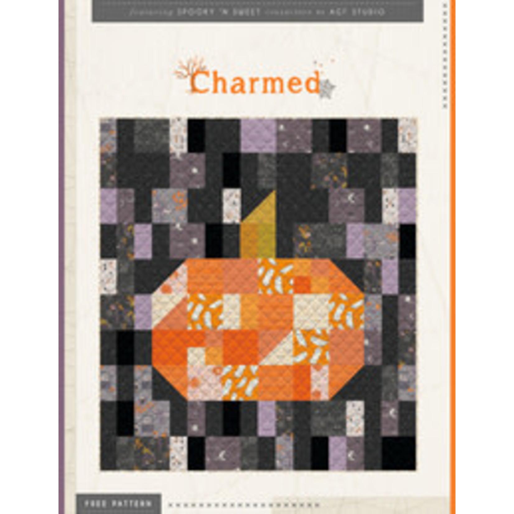 Art Gallery SPOOKY N SWEET CHARMED QUILT KIT Halloween