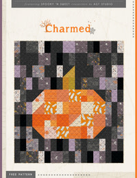 ART GALLERY SPOOKY N SWEET CHARMED QUILT KIT Halloween