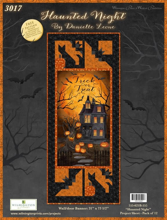 WILMINGTON PRINTS HAUNTED NIGHT WALL/DOOR BANNER KIT (BACKING INCLUDED)