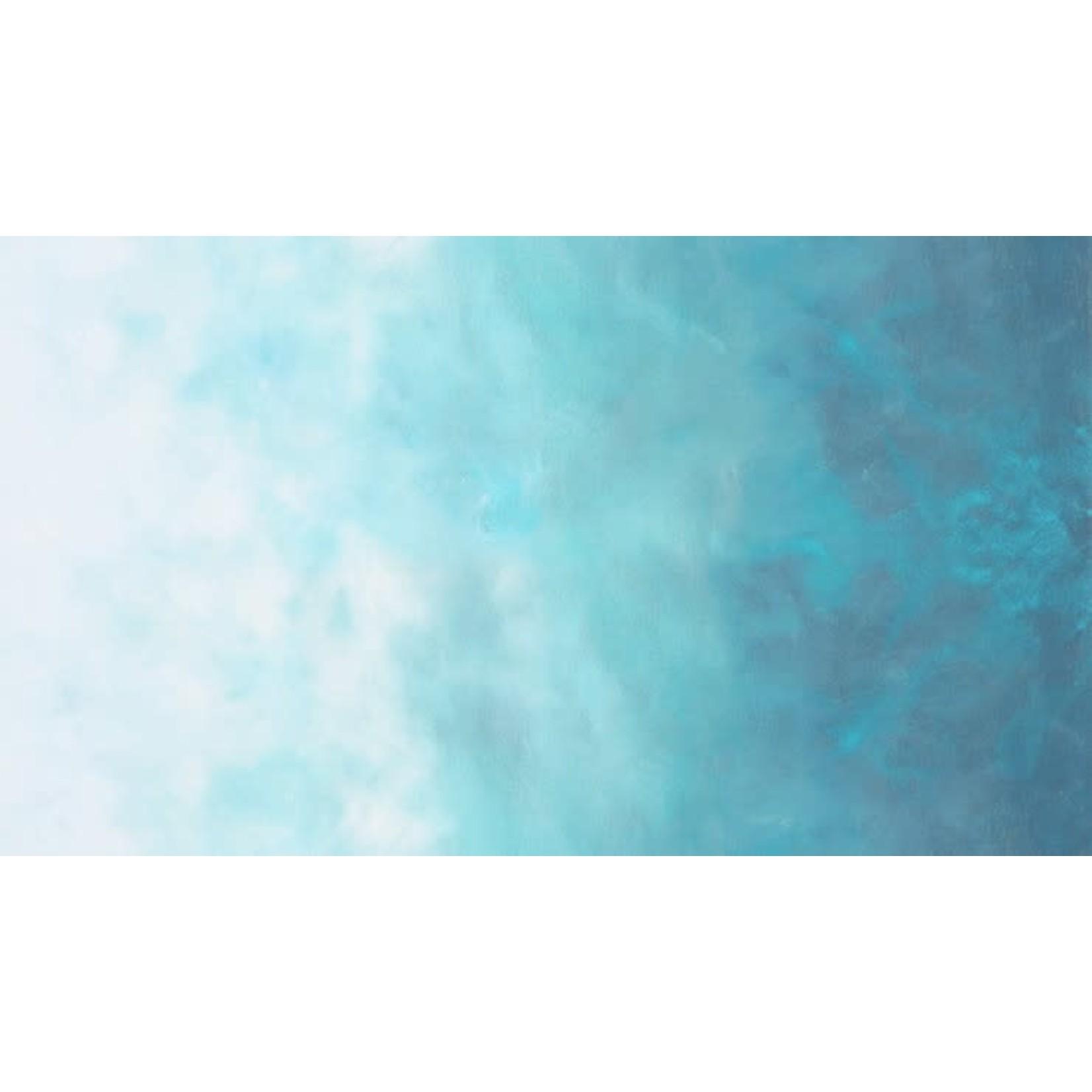 ROBERT KAUFMAN Sky by Jennifer Sampou, Ombre, Spa, per cm or $18/m