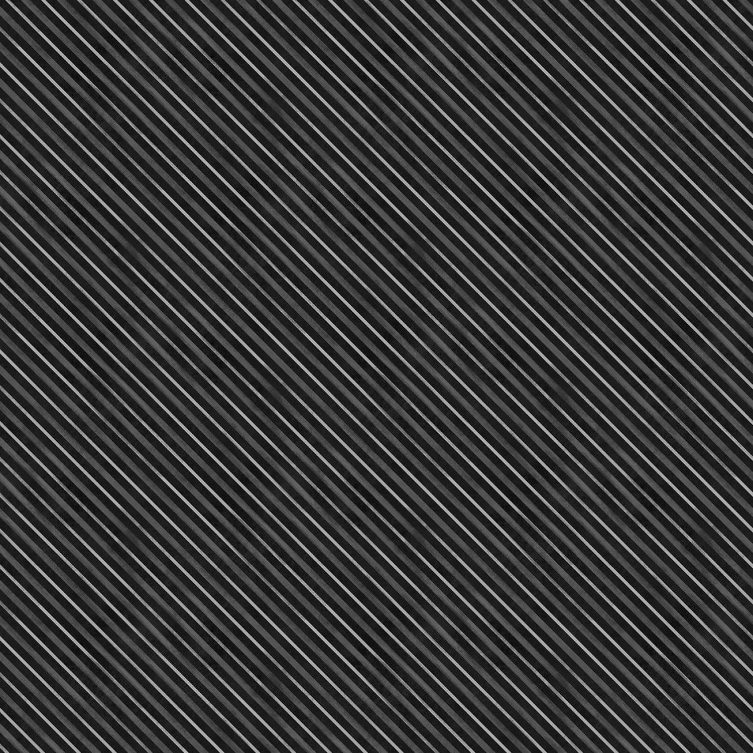 WILMINGTON PRINTS HAUNTED NIGHT BLACK STRIPE PER CM OR $20/M