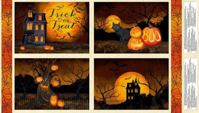 WILMINGTON PRINTS HAUNTED NIGHT PLACEMAT PANEL