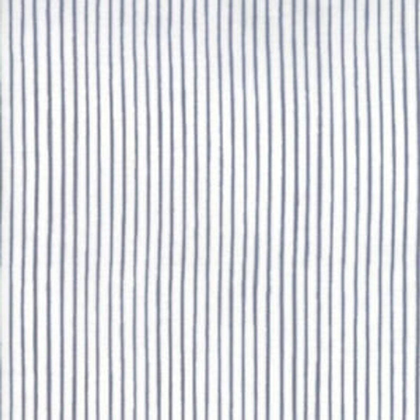 Moda MODAFICATION, STRIPES, BLACK ON WHITE PER CM OR $20/M