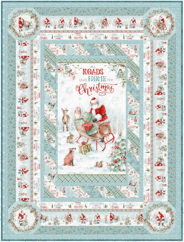 LISA AUDIT A MAGICAL CHRISTMAS, Throw Quilt Kit