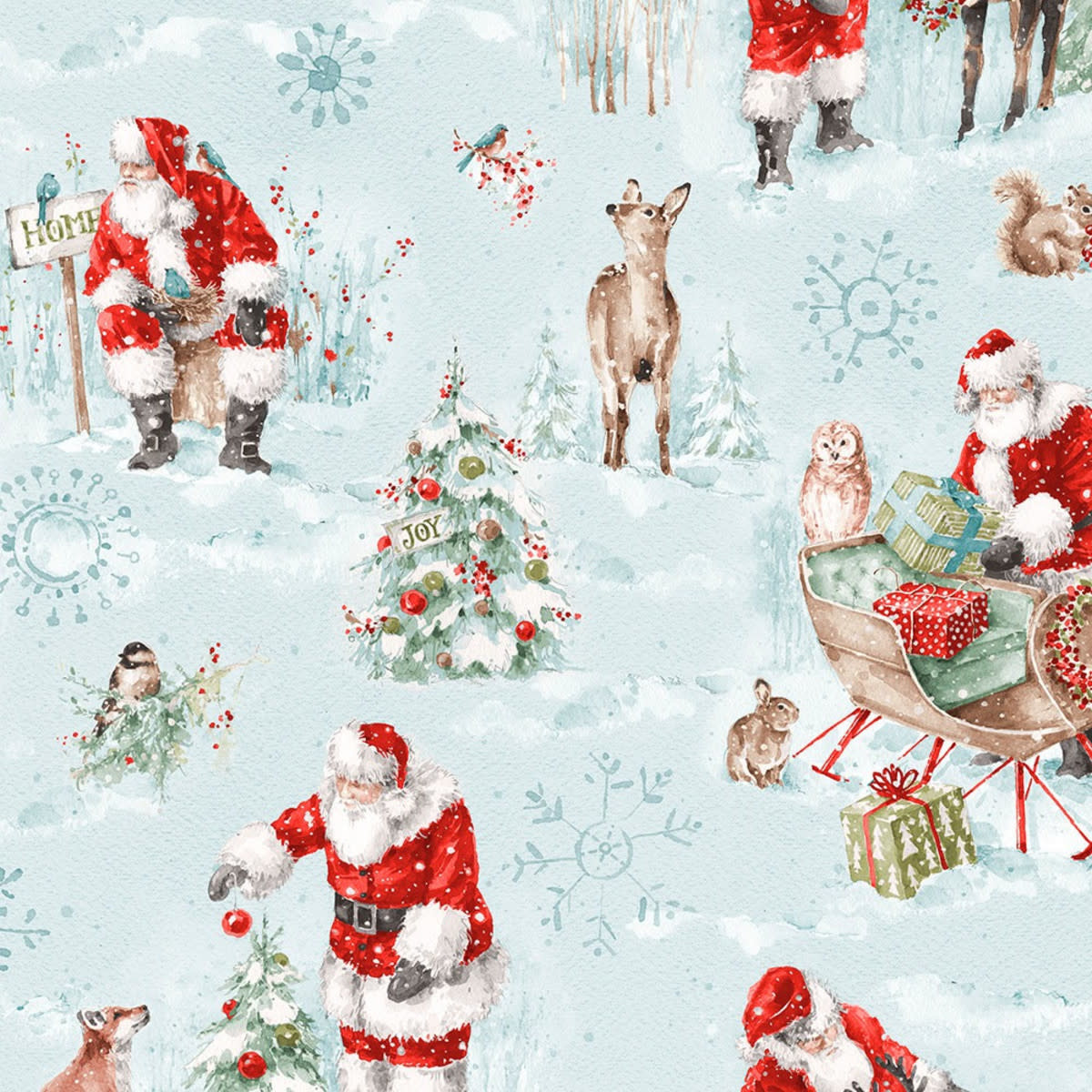 LISA AUDIT A MAGICAL CHRISTMAS, SCENES ON BLUE (86461-437) $0.20 /CM OR $20/M