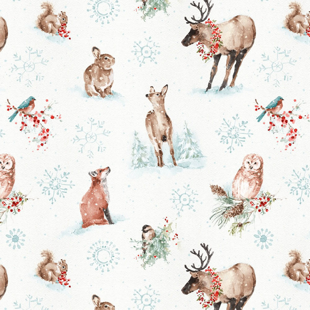 LISA AUDIT A MAGICAL CHRISTMAS, ANIMALS ON WHITE (86462-123) $0.20 /CM OR $20/M