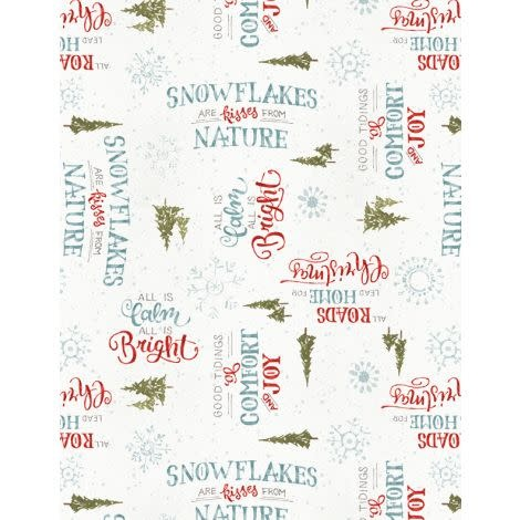 LISA AUDIT A MAGICAL CHRISTMAS, WORDS ON WHITE (86464-137) $0.20 /CM OR $20/M