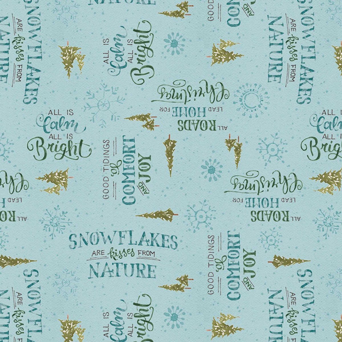 LISA AUDIT A MAGICAL CHRISTMAS, WORDS ON BLUE(86464-447) $0.20 /CM OR $20/M