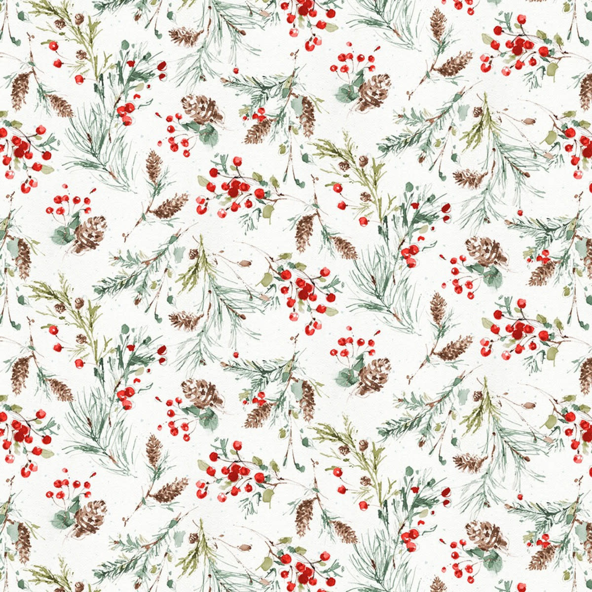 LISA AUDIT A MAGICAL CHRISTMAS, FOLIAGE ON WHITE(86465-173) $0.20 /CM OR $20/M