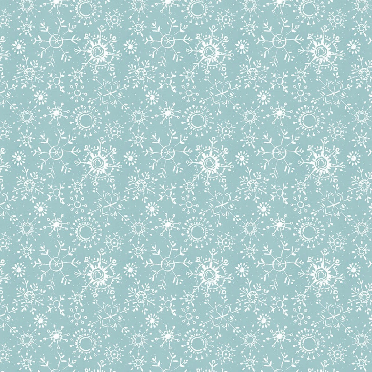 LISA AUDIT A MAGICAL CHRISTMAS, SNOWFLAKES, WHITE ON BLUE (86466-411) $0.20 /CM OR $20/M
