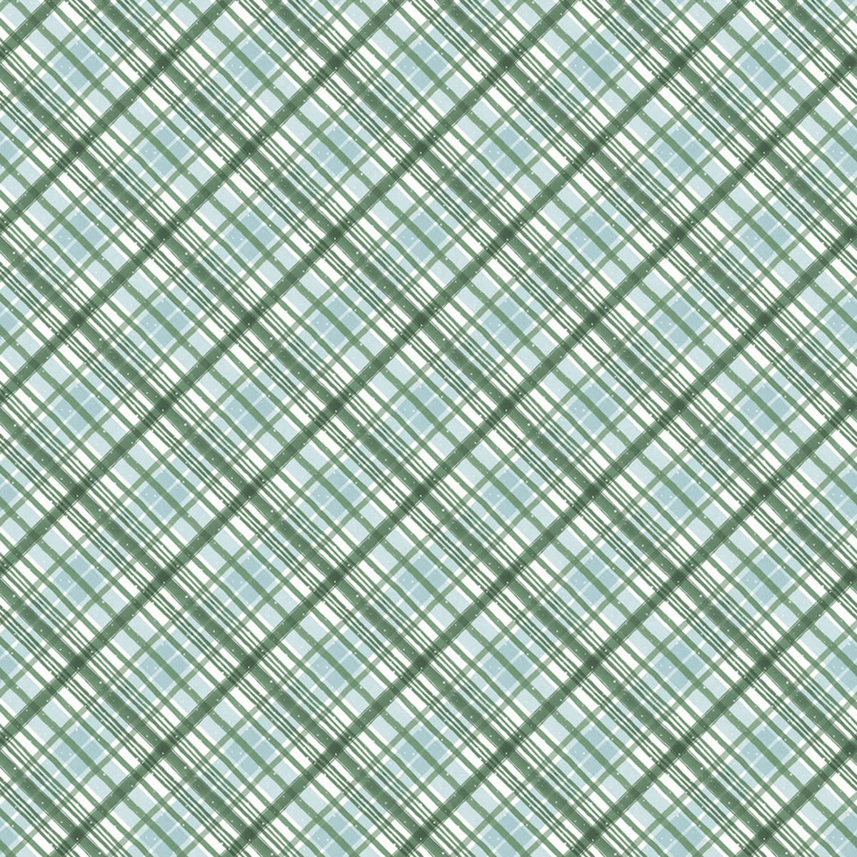 LISA AUDIT A MAGICAL CHRISTMAS, PLAID, GREEN (86467-174) $0.20 /CM OR $20/M