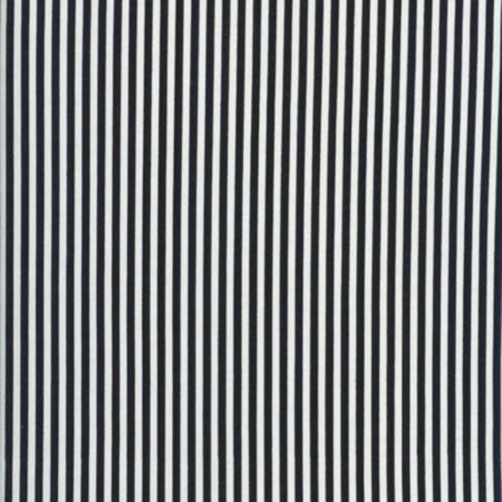 "TIMELESS TREASURES Stripe 1/8"" Black/White C8109 PER CM OR $20/M"