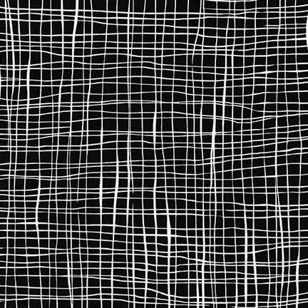 ROBERT KAUFMAN PEN & INK, WHITE WAVES ON BLACK PER CM OR $21
