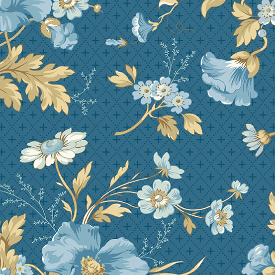 ANDOVER PERFECT UNION, BOUQUET, LIBERTY BLUE (A-9577-B) PER CM or $20/m