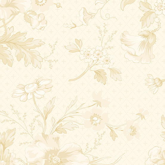 ANDOVER PERFECT UNION, BOUQUET, ANTIQUE CREAM (A-9577-L) PER CM or $20/m