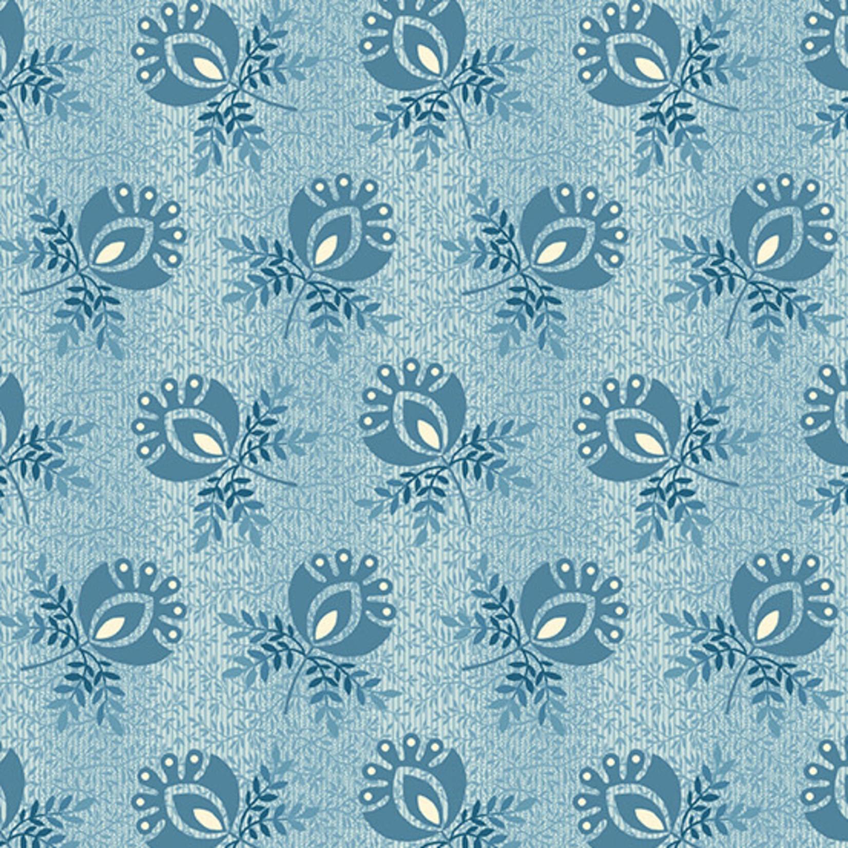 ANDOVER PERFECT UNION, BOUTONNIERE, BLUE FROST (A-9579-B) PER CM or $20/m