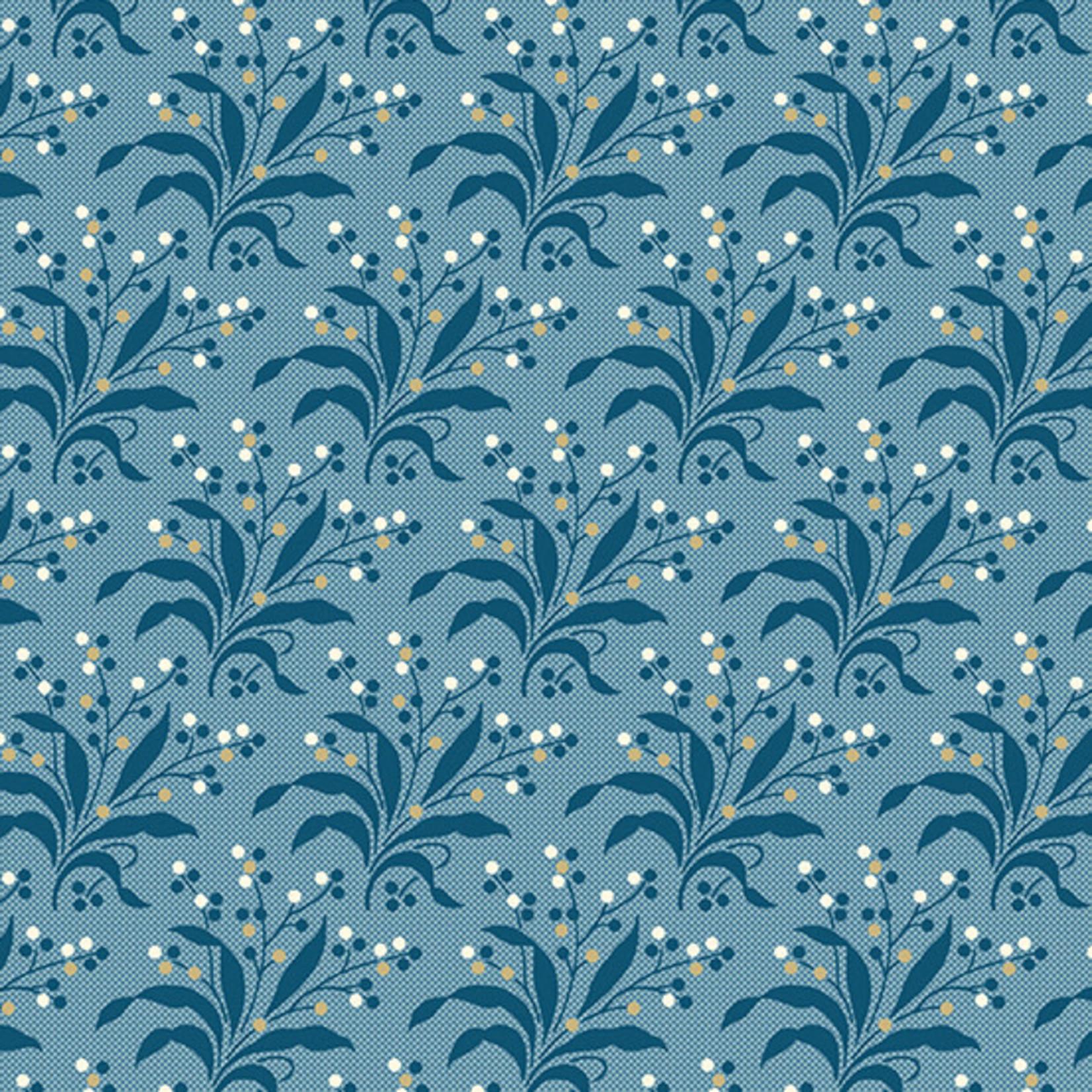 ANDOVER PERFECT UNION, FERN, CORNFLOWER BLUE (A-9580-B) PER CM or $20/m