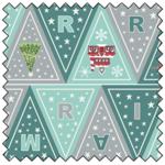 """Lewis & Irene Christmas Glow Bunting - BLUE/GREY - 44"""" x 35"""""""