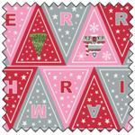 "Lewis & Irene Christmas Glow Bunting - PINK/RED - 44"" x 35"""