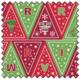 "LEWIS & IRENE Christmas Glow Bunting - GREEN/RED - 44"" x 35"""