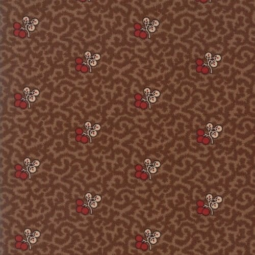 MODA HOPE'S JOURNEY,  BERRIES ON BROWN PER CM OR $19/M NOW 12