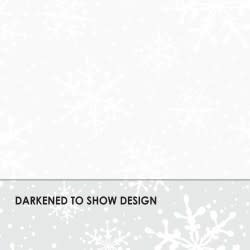 MAYWOOD Solitaire Whites, Snowflakes (White), per cm or $18/m