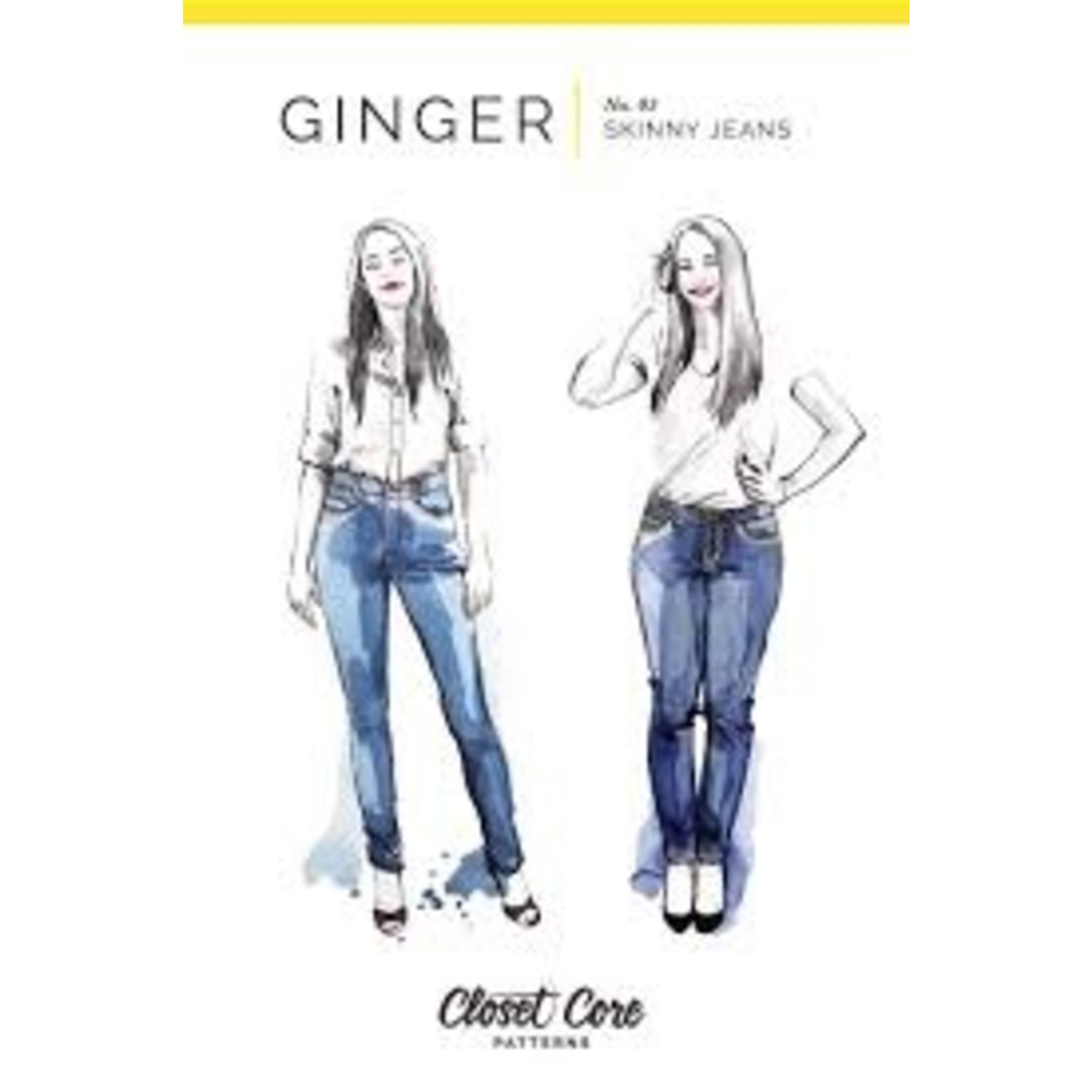 Closet Core Patterns Closet Core - Ginger Skinny Jeans Pattern 0-20