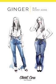 Closet Core Patterns Ginger Skinny Jeans Pattern 0-20