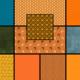 Moda GRUNGE BASICS TRICK & TREAT QUILT KIT- SLEEPY HOLLOW - FAT 1/8 BUNDLE - 11 PCS Halloween