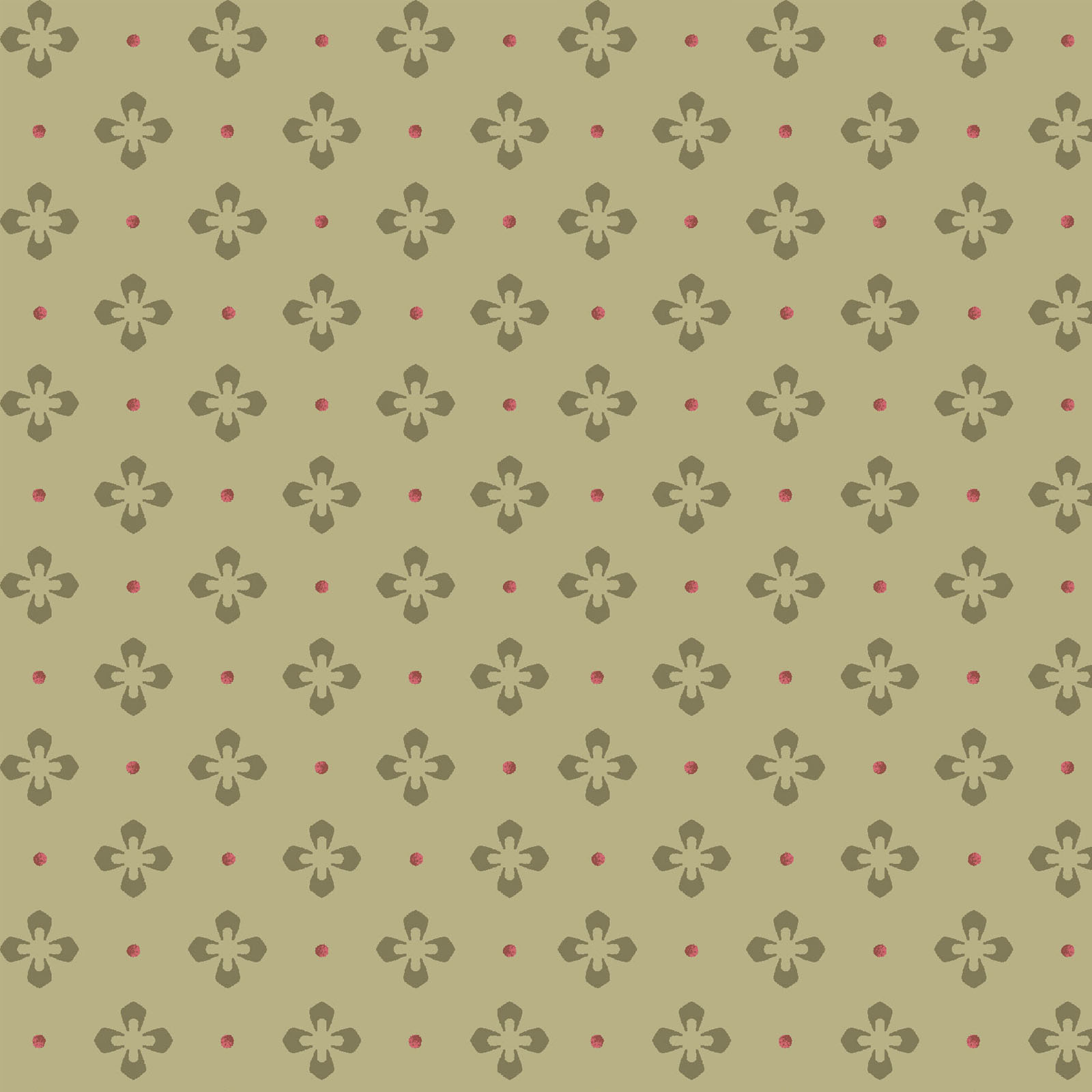 MAYWOOD BURGUNDY & BLUSH, FOULARD DOT (Green), Per cm or $18/m