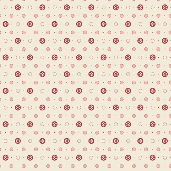 ANDOVER ANNA Buttons, Cream, PER CM OR $20/M