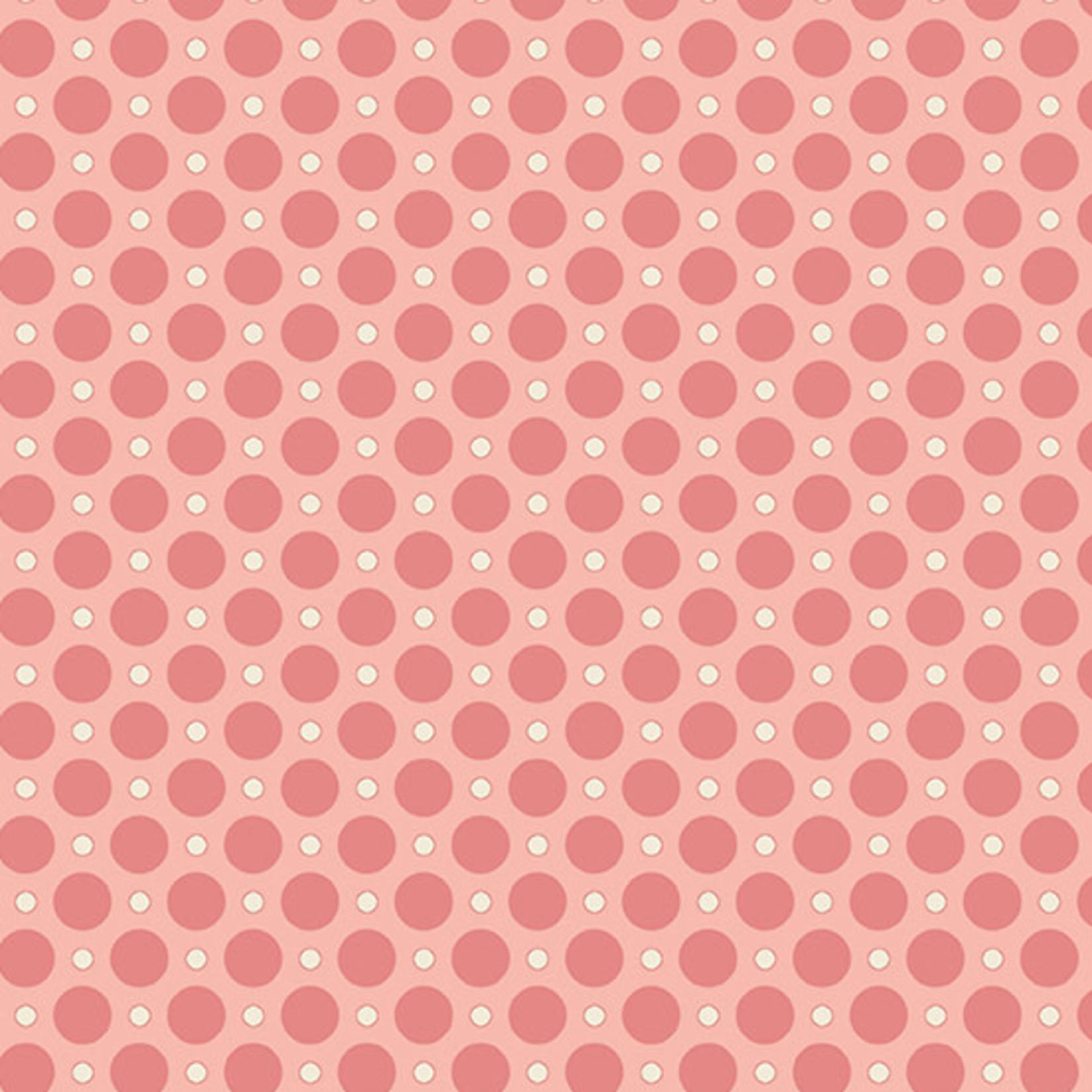 Andover ANNA Ladybug, Pink, PER CM OR $20/M