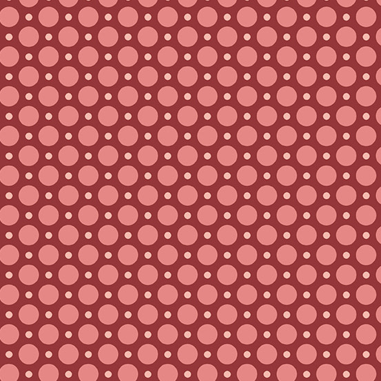 ANDOVER ANNA Ladybug, Raspberry, PER CM OR $20/M