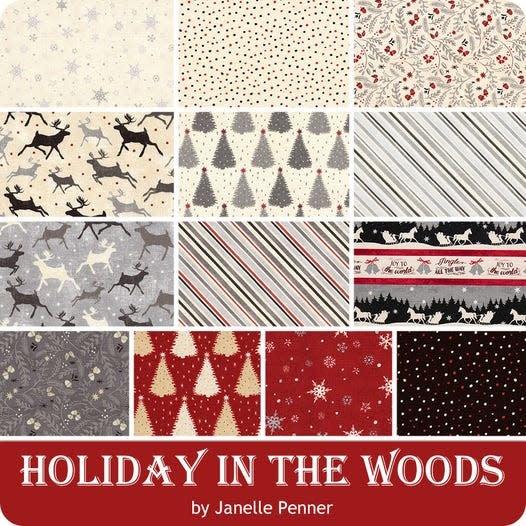 WILMINGTON PRINTS Holiday in the Woods - 10 KARAT CRYSTALS