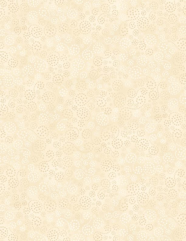 WILMINGTON PRINTS Essentials, Sparkle (Cream), per cm or $18/m
