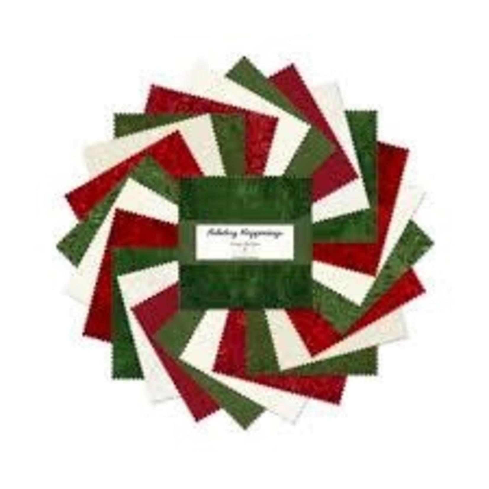 Wilmington Prints 5 KARAT Mini-Gems, Holiday Happenings (24 pcs)
