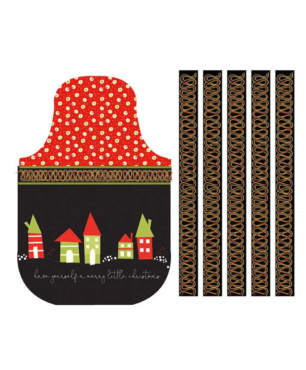 RILEY BLAKE DESIGNS MERRY LITTLE CHRISTMAS, APRON PANEL