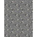 Janelle Penner Holiday in the Woods - Leaves & Acorns - Gray, per cm or $20/m
