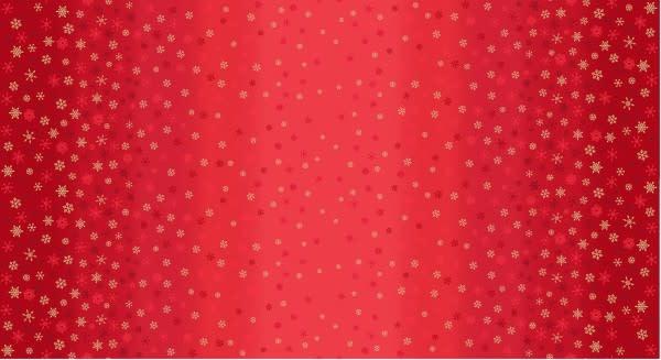 MAKOWER Snowflake, Ombré, Red, per cm or $20/m