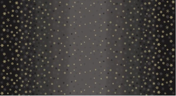 MAKOWER Snowflake, Ombré, Black, per cm or $20/m