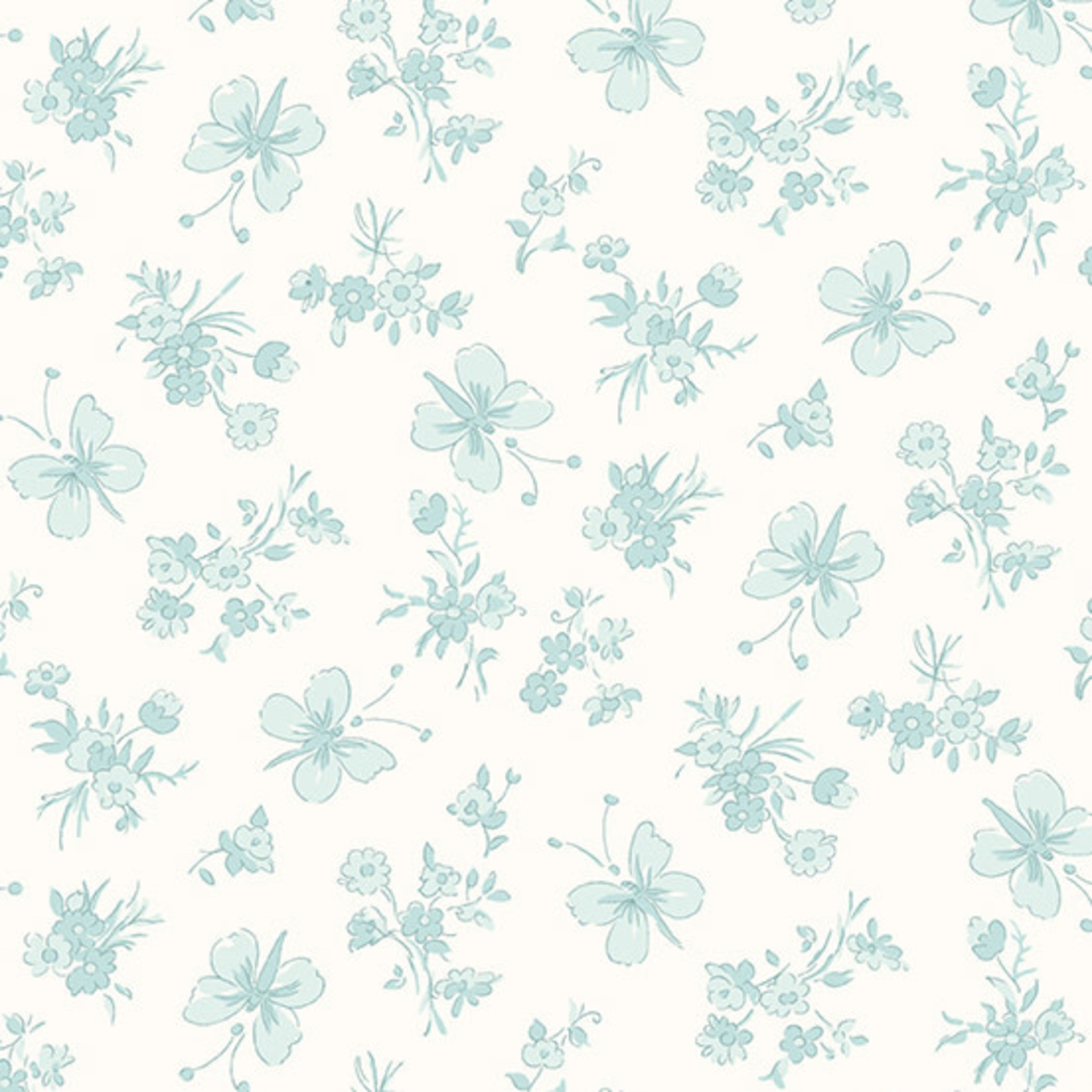 Andover WILLOW, BUTTERFLIES, TEAL (9613-T) PER CM OR $20/M