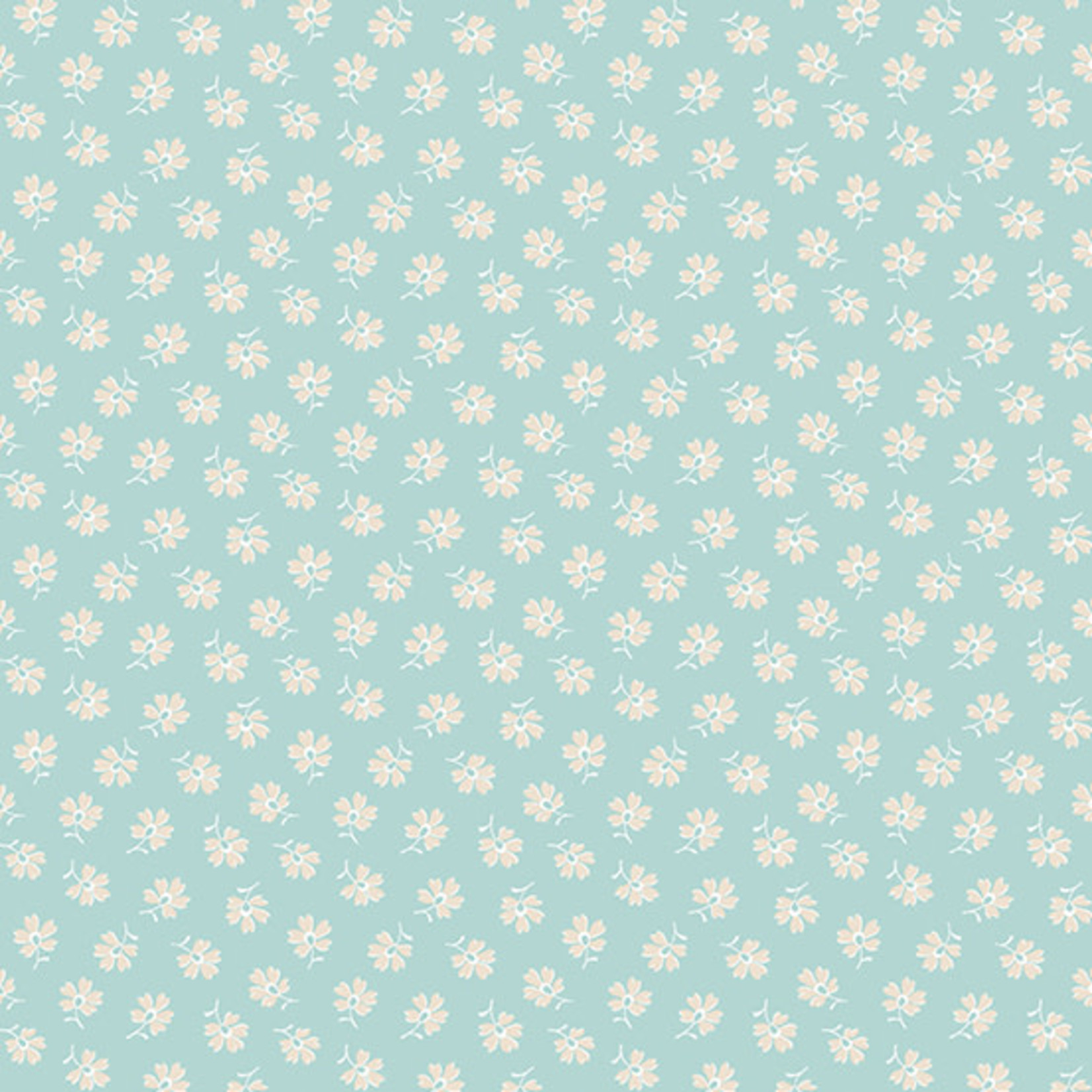 Andover WILLOW, FLOATING FLOWERS, TEAL (9618-T) PER CM OR $20/M